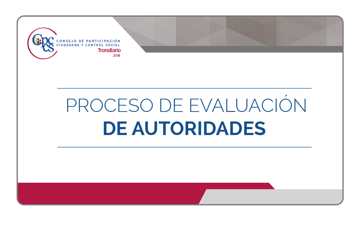 Consejo de participaci n ciudadana y control social 331 for Oficina nacional de evaluacion
